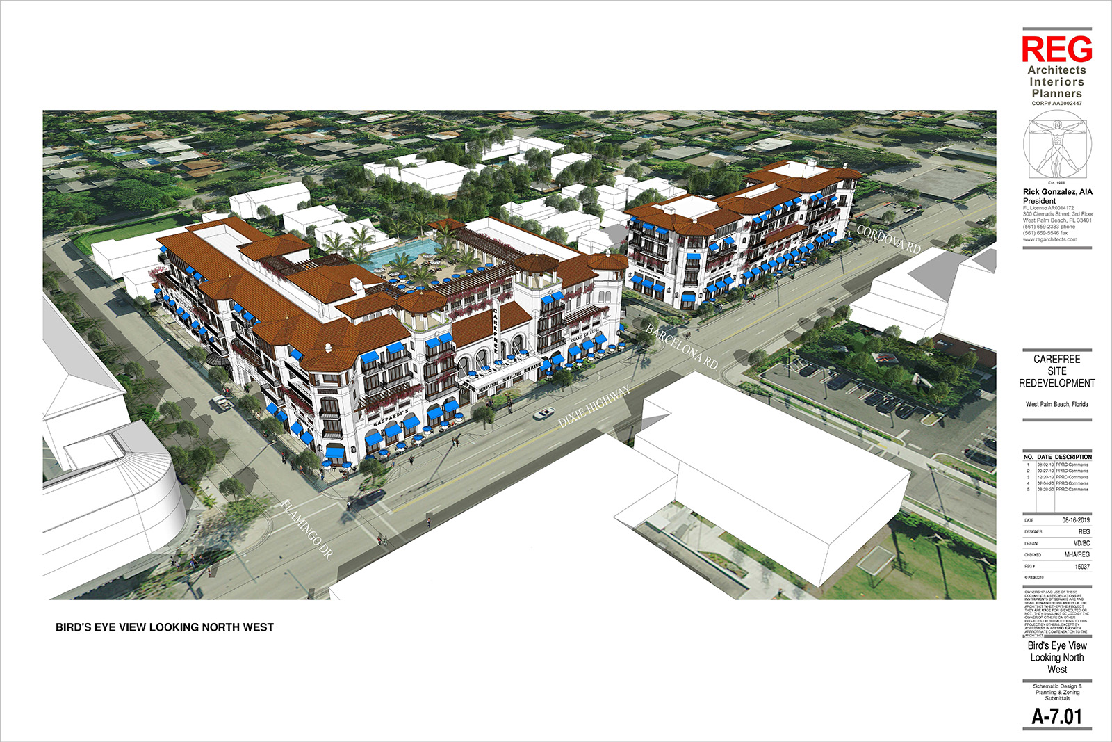 The proposed Carefree is more than 3 times the height of single-family homes in El Cid.